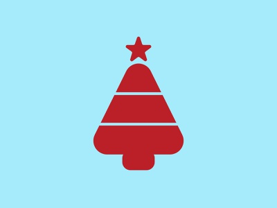 A for Christmas Tree typography logotype lettering
