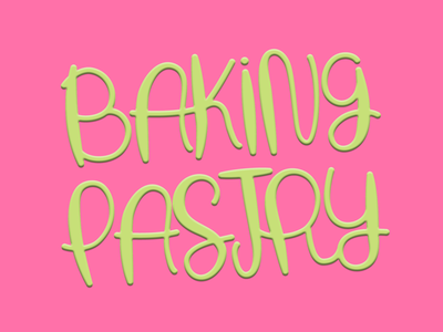 Baking Pastry typography logotype lettering