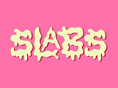 Slabs illustration typography logotype lettering