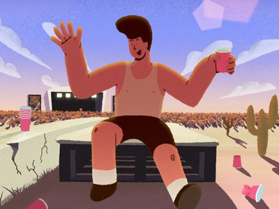 The Big Jig aftereffects frame by frame cel animation beer drunk dance festival illustration animation