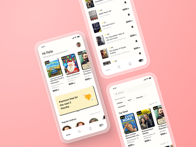 Book App Template vector branding ux graphic design ui design reading read mobile app freebie template library book