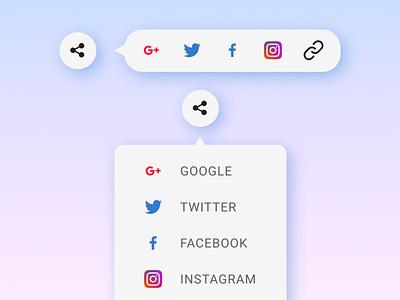 Social share button ui