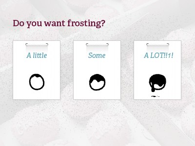 Want frosting? checkbox product option icon cake photoshop illustrator