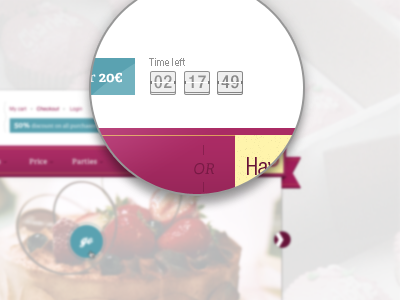 Little timer ui web photoshop timer clock ad campaign time left