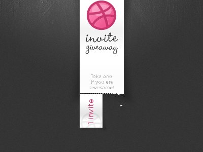 Invite giveaway, if you're awesome...