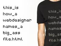 Web file T-shirt
