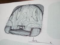 Skateboarding icon sketch