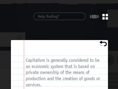 Help Finding? search input icon grid coverflow flashcard flip description