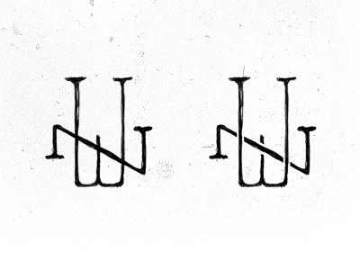 WN first concepts monogram logo brand branding sketch illustrator monograms are still cool