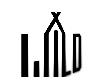 wild X tent illustrator hammer log wood boot tent thick bold icon nature camp logo branding brand