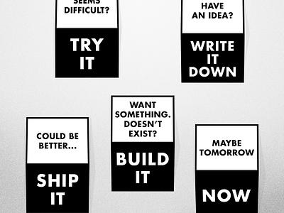 Motivational Prints motivation print bw black white work work work futura bold