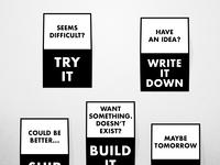Motivational wall