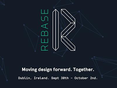 Rebase.ie logo geometric conference