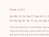 Font in the works