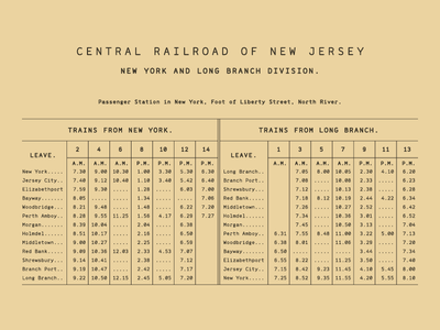 Range Mono Railroad Schedule type old letters font table