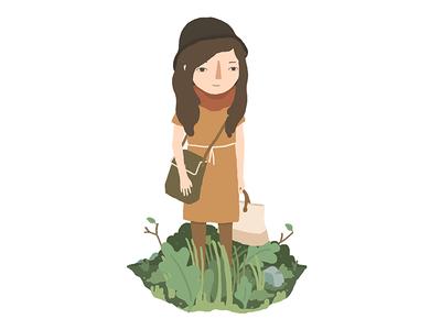 Cool-girl drawing fun illustration hi