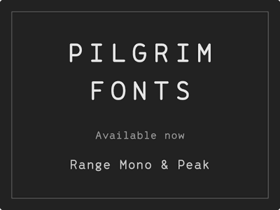 Introducing Pilgrim Fonts fonts type letters typography lol