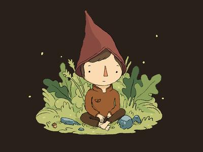 Acorn Boy nature acorn fun drawing illustration