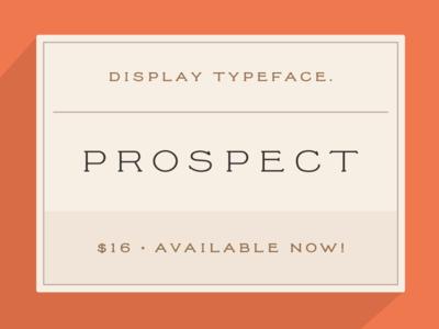New font: Prospect type font