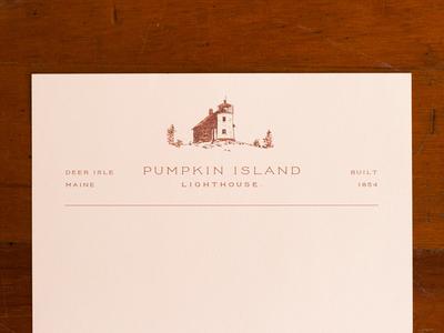 Pumpkin Island letterhead
