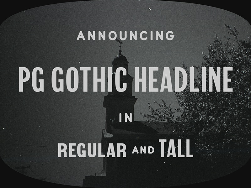 Pg gothic headline on tv