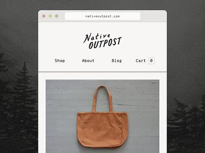 Web shop is live! ecommerce web shopify