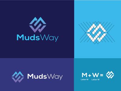 Muds way-Letter Logo Design