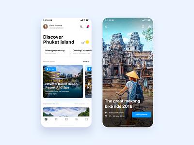 Travel App Concept traveling app traveling travel mobile ui mobile app design mobile app mobile user interface design user interface uiux