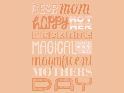 Happy Mothers Day mom type typography hand lettering lettering handlettering graphic design design
