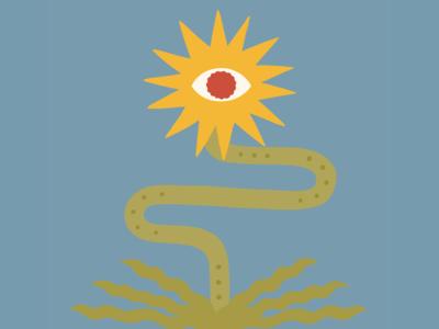 Eyeball Sun Flower sunflower eyes eyeballs drawing plants graphic design illustration design