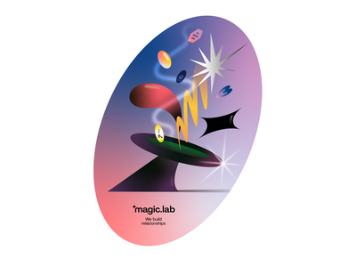 Early concept for MagicLab visual language branding illustration