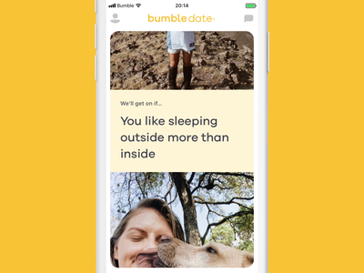 Bumble Reactions exploration mobile video motion interaction ui principle magiclab reactions animation ios dating bumble