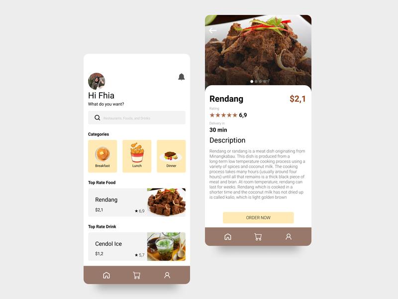Foods & Driks App Design ux uxdesigner uidesigner mobile design mobile app developer app uxdesign uidesign design