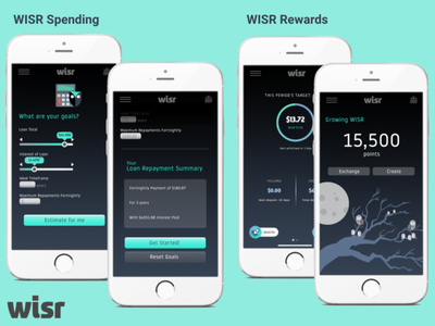 WISR Spending & Rewards | WISR Case Crack 2020 ux