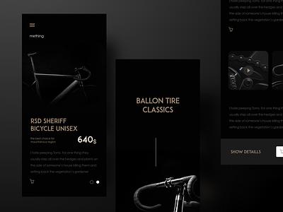 Ballon Tire Classics ui ux design web app