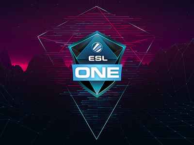 ESL One Keyart esport sports television onair eslone gaming keyart