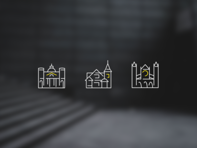 Architecture | Icons architecture clean minimal web flat branding vector icon design logo illustration