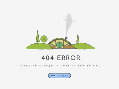 008 404 page | Daily UI house hobbit error ux ui page 404 shire minimal dailyui clean 008