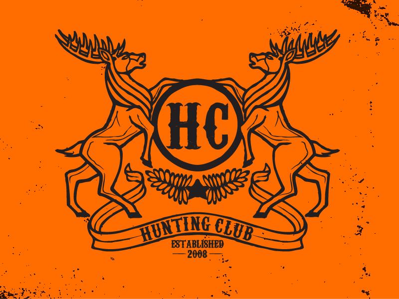 Hunting Club Logo minneapolis crest band logo rock elk hunting club