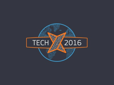 Tech X vector tech-x circuits globe