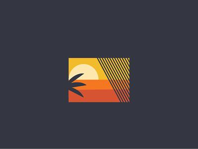 Paradise vibez palm tree blinds sunset