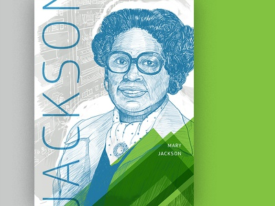 Mary Jackson poster engineer illustrasion