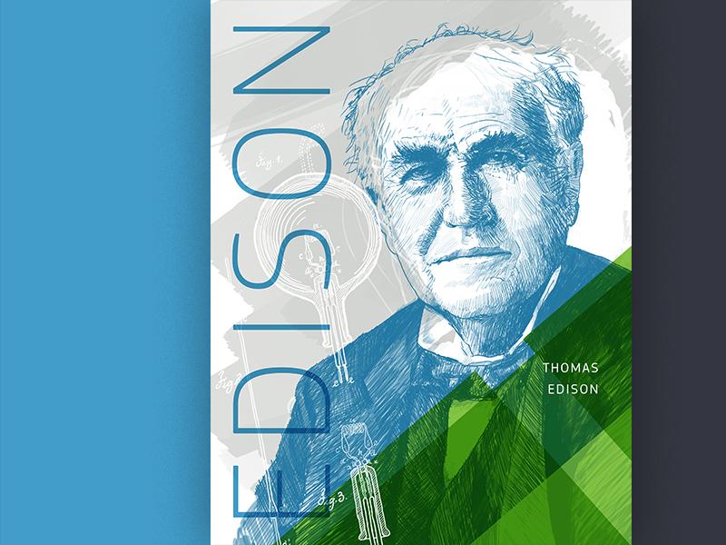 Thomas Edison rd poster engineer illustration