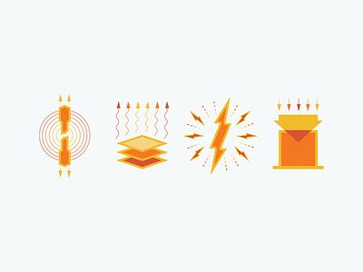 Material Properties design icon illustration