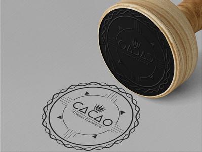 Cacao - Artesan Chocolates, company stamp design