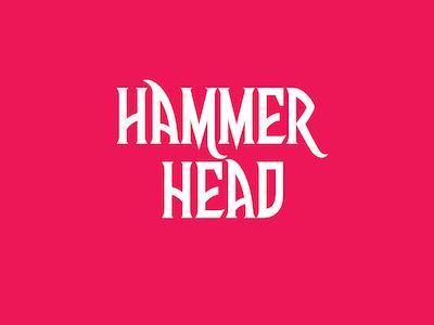 Hammerhead type art hand lettering desginer logo font fonts letters lettering typography type