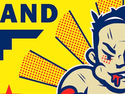 Fight Night illustration font design letter lettering branding art script logotype hand lettering designer type