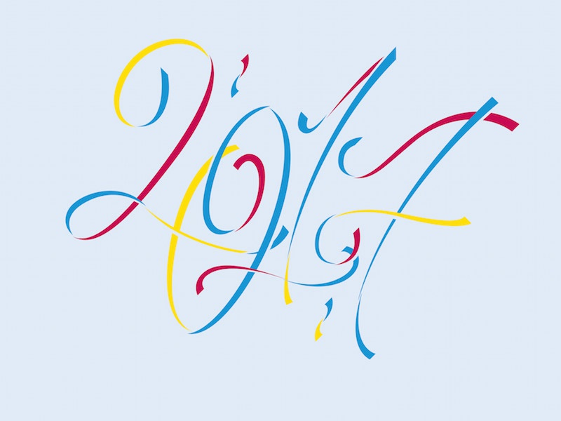 Happy New Year vector art design designer los angeles logo letters drawing draw font fonts typography lettering