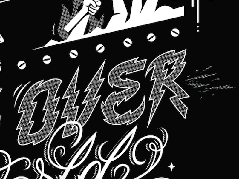 Over lettering typography fonts font draw drawing letters logo los angeles designer hip hop type