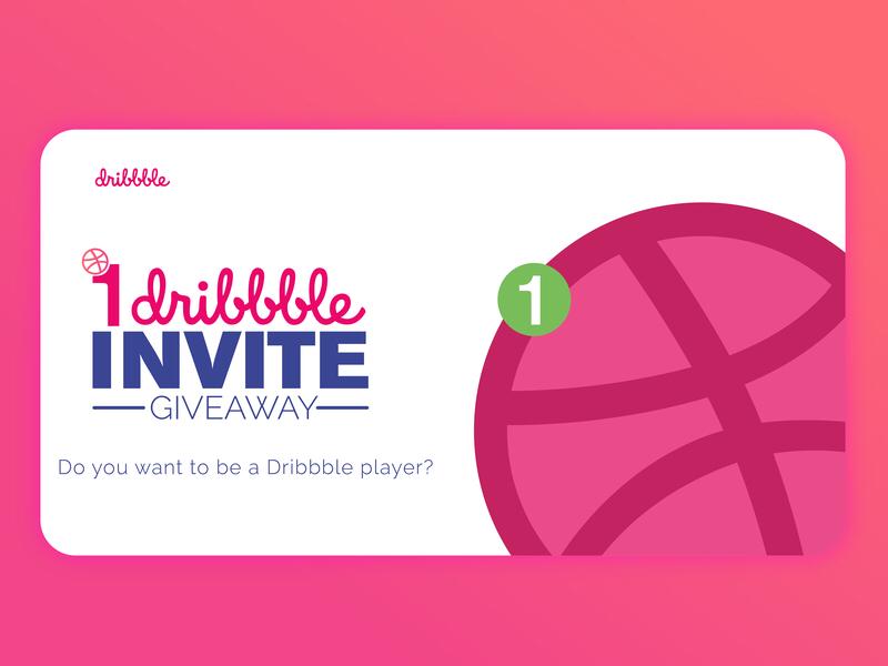 1 Dribbble invite! Send me your best work. work giveaway dribbble illustrator branding logo ui ux invite